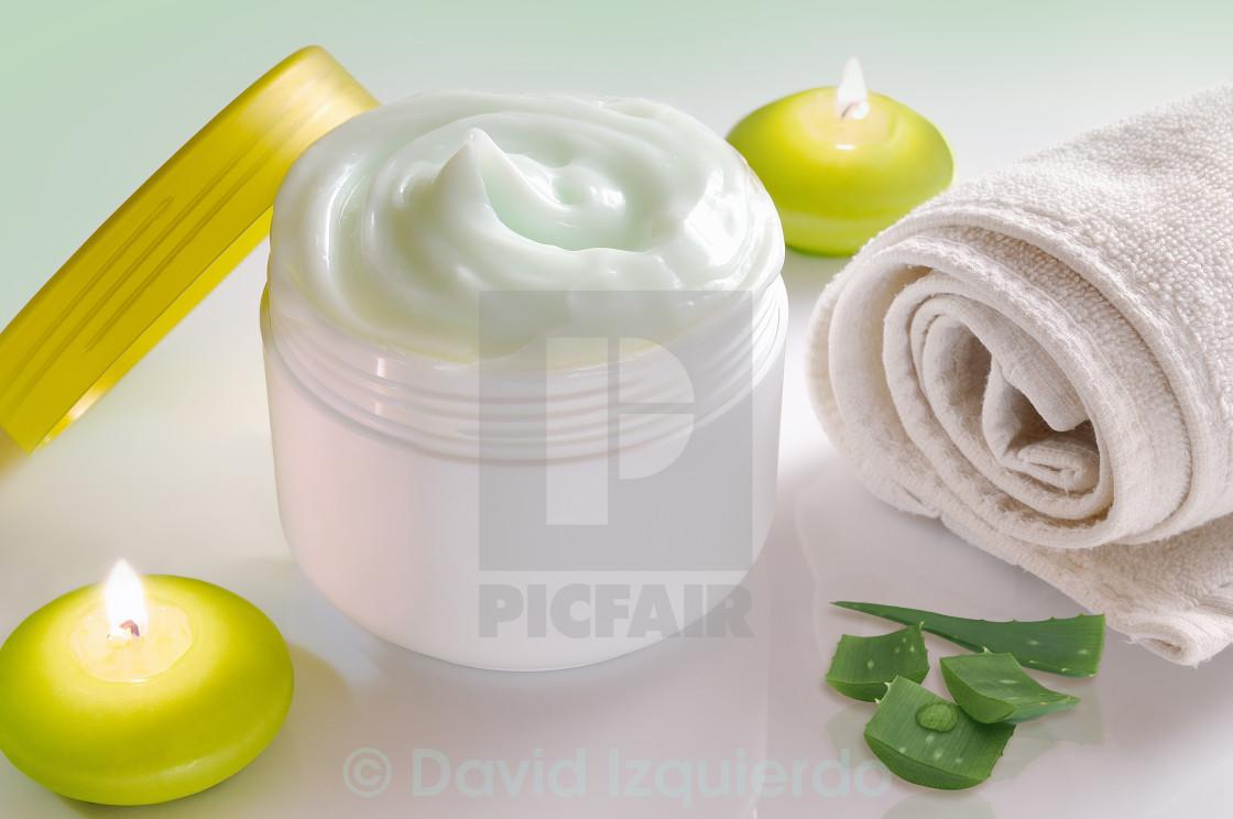 """""""Aloe vera cream"""" stock image"""