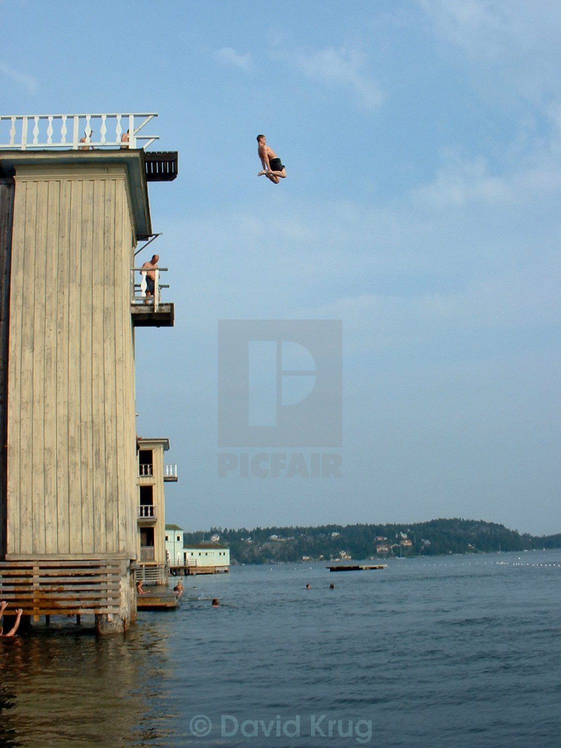 """""""Jump into water"""" stock image"""