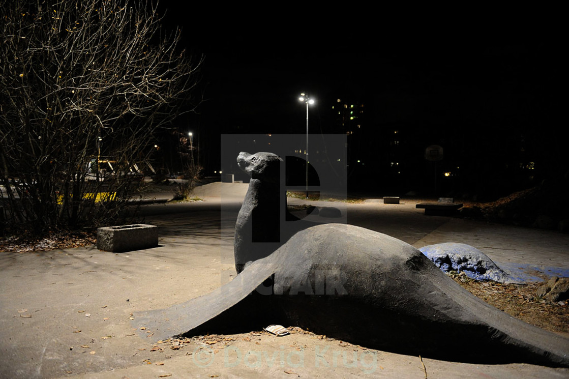 """Park seal sculpture för skateboarding"" stock image"