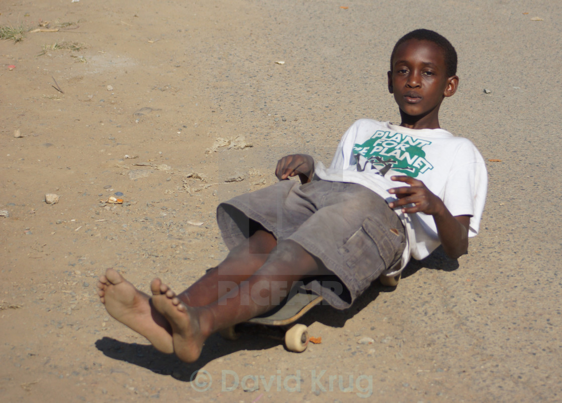 """Township skateboard child"" stock image"