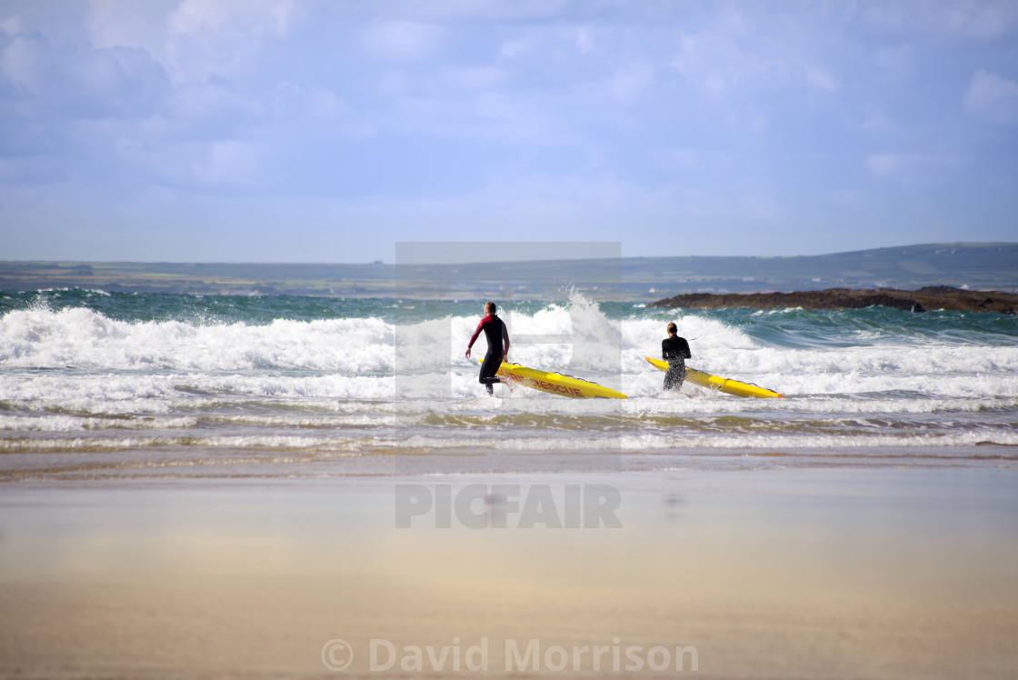 """""""lifeguards training in the surf"""" stock image"""