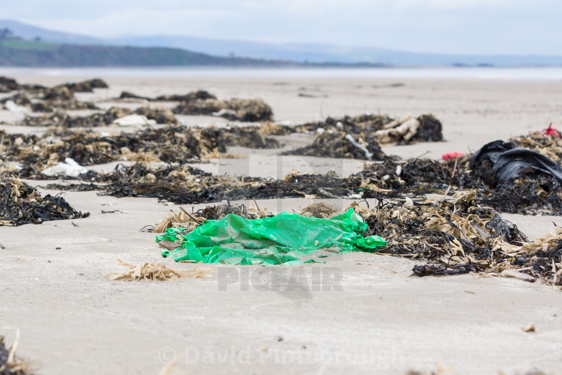 """Plastic Rubbish on the Beach"" stock image"