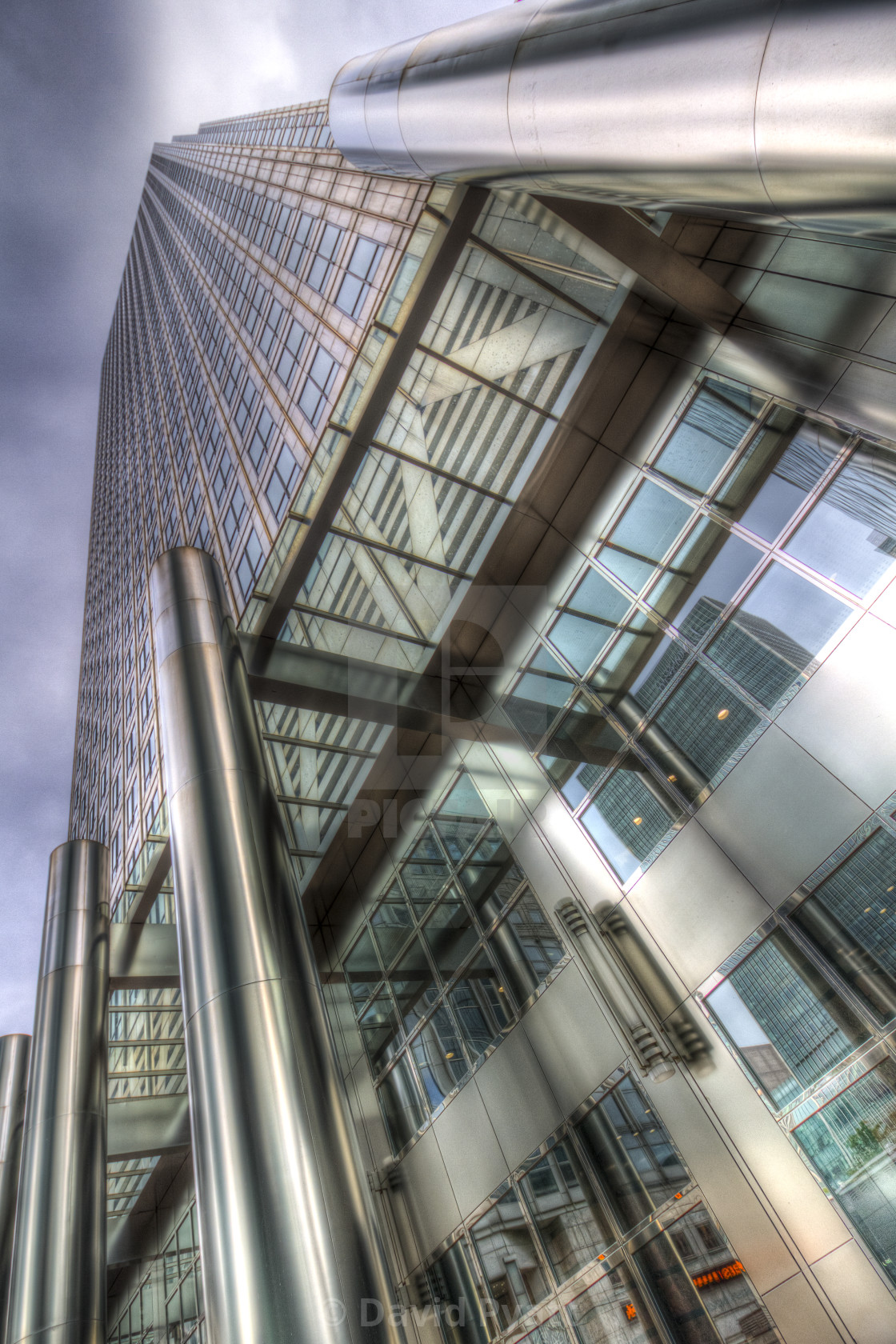 """One Canada Square London"" stock image"