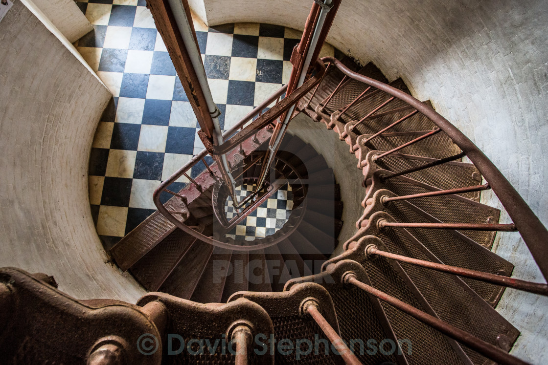 """""""Spiral Lighthouse Stairs"""" stock image"""