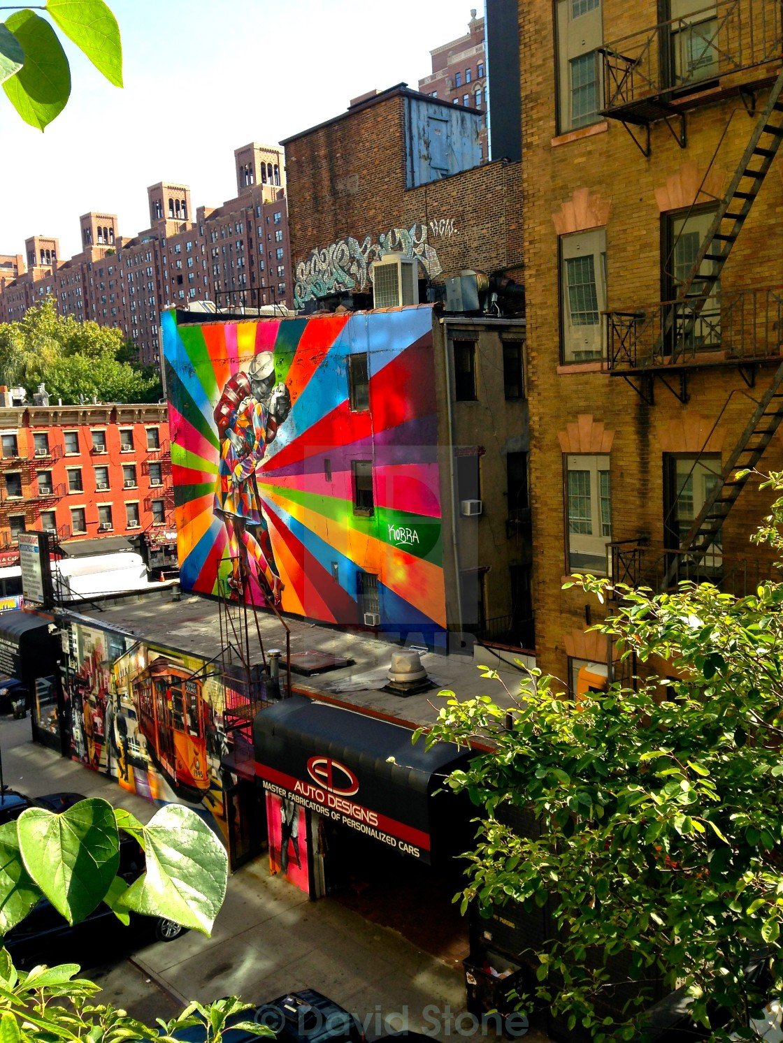 Building Decoration Along the High Line, New York City