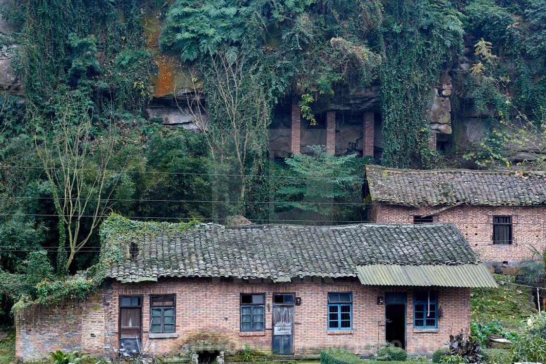 """Jiyayang National Mining Park, Sichuan, China"" stock image"