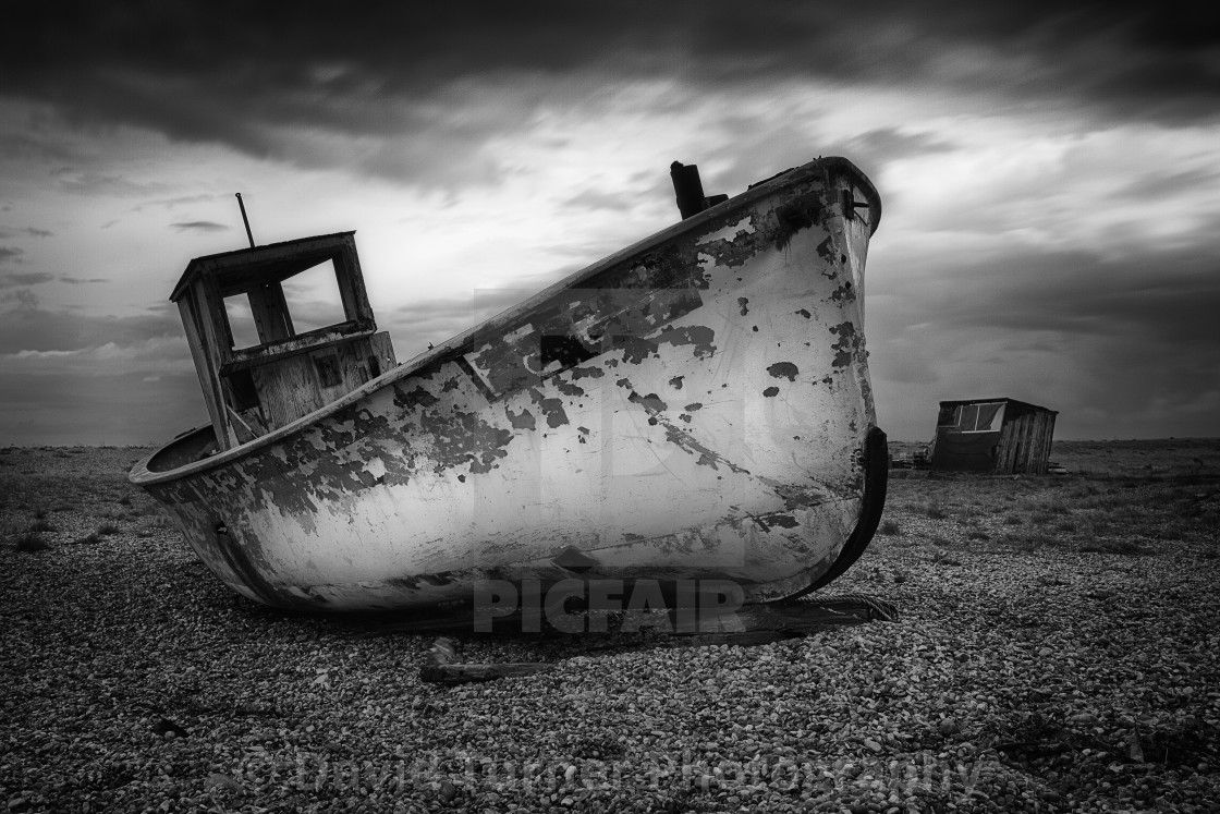 """The Trawler, Dungeness, Kent"" stock image"