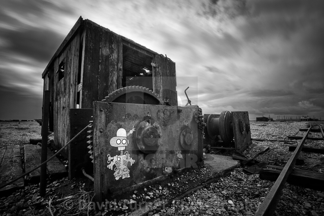 """The Winch, Dungeness"" stock image"