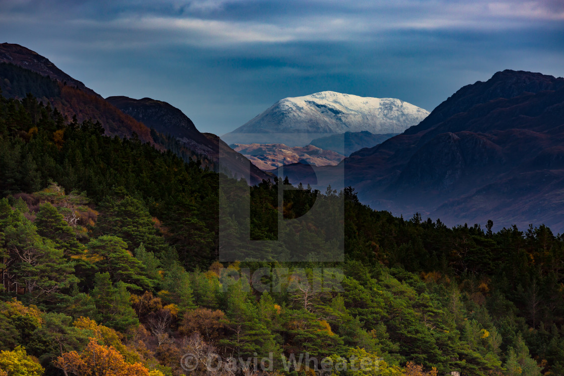 """""""Loch Alsh to Sgurr an Airgid, Kintail, Scotland."""" stock image"""
