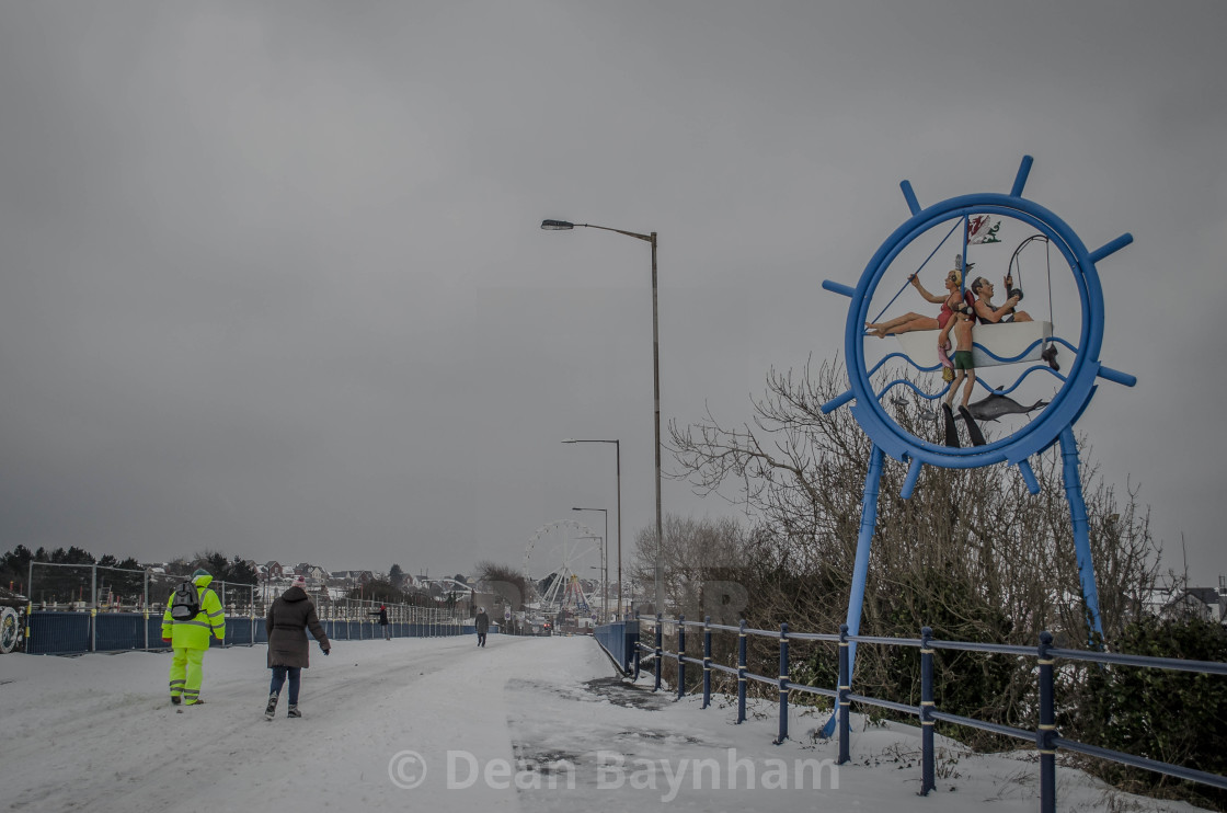 """Barry Island Snow"" stock image"