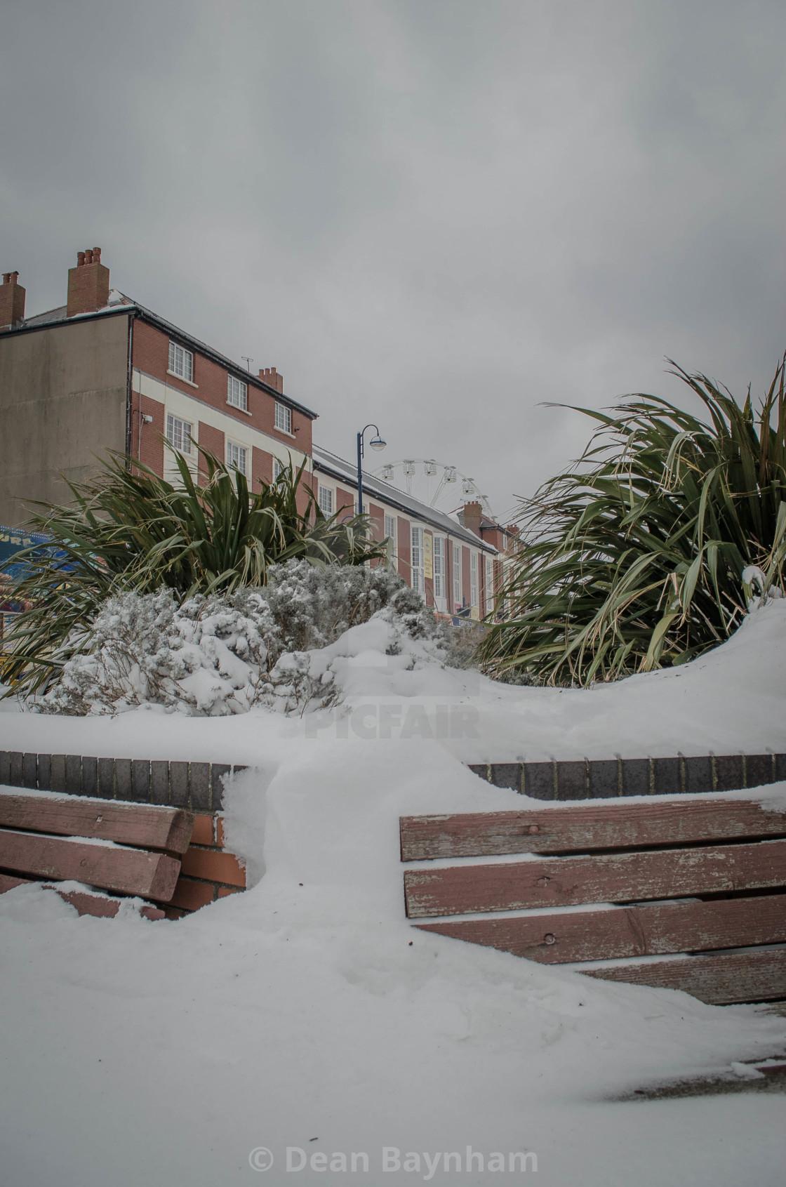 """Barry Island Snow"" stock image"