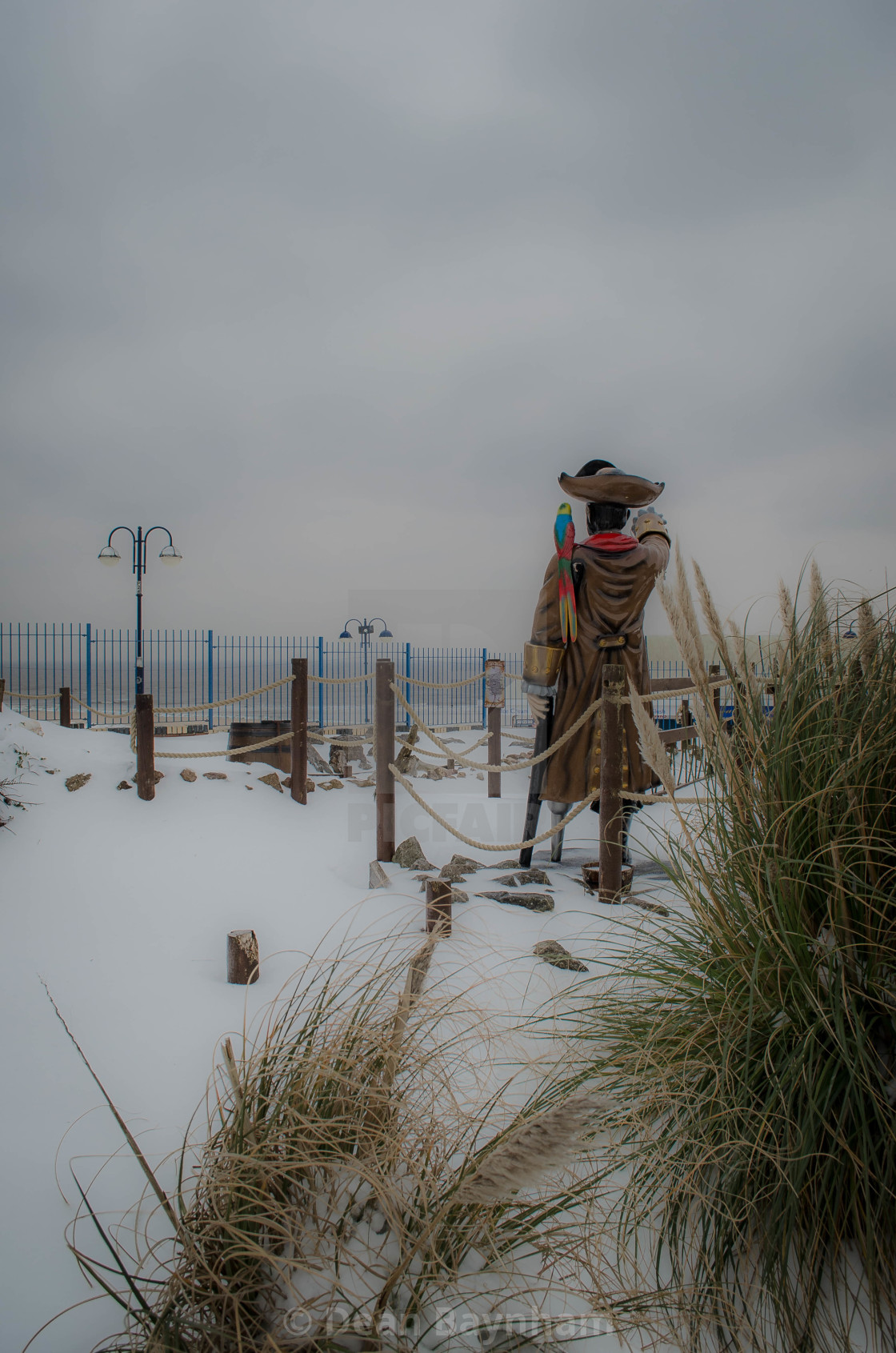 """Barry Island Snow Pirate"" stock image"