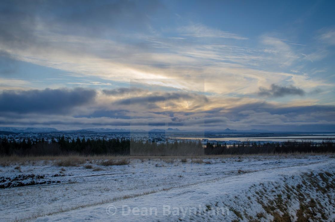 """Reykjavik Sunset"" stock image"