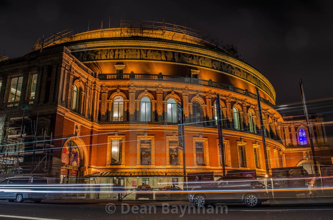 """Night at the Royal Albert Hall - London"" stock image"