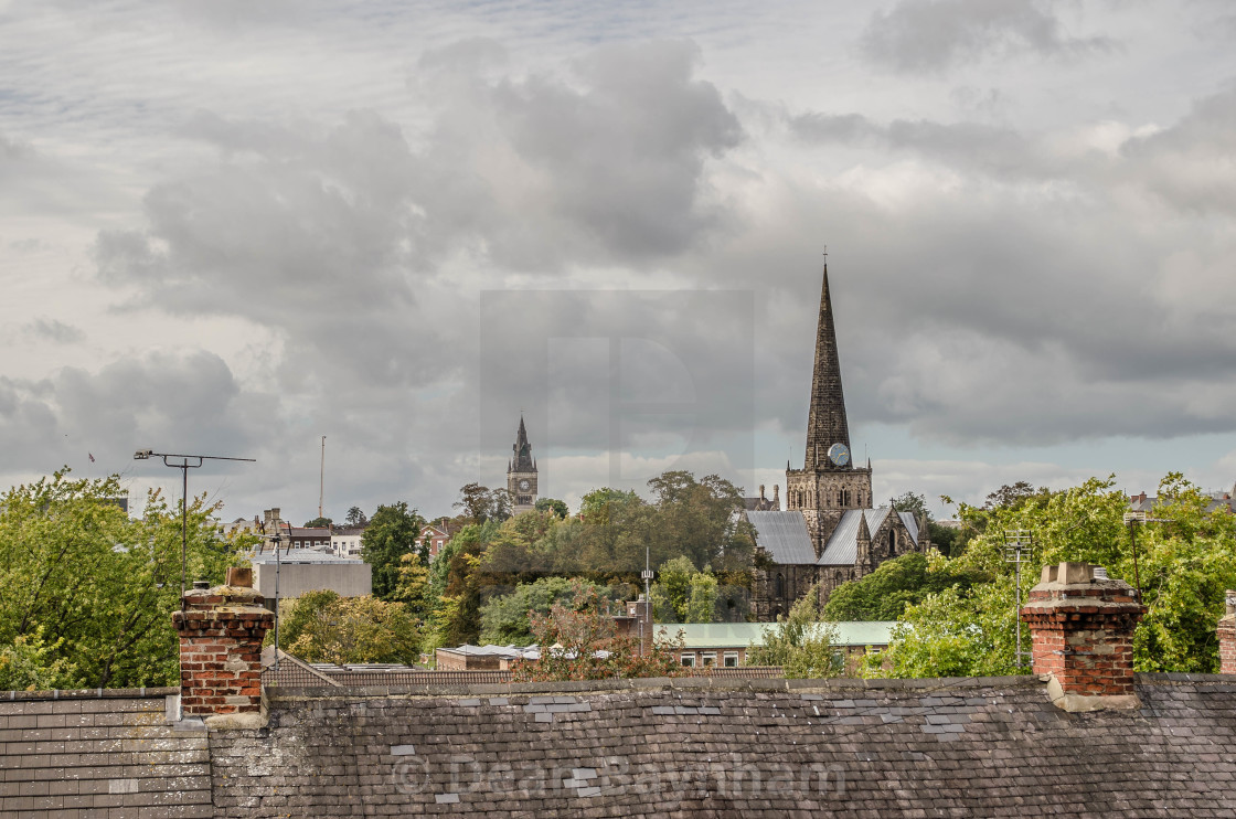 """Darlington Skyline"" stock image"