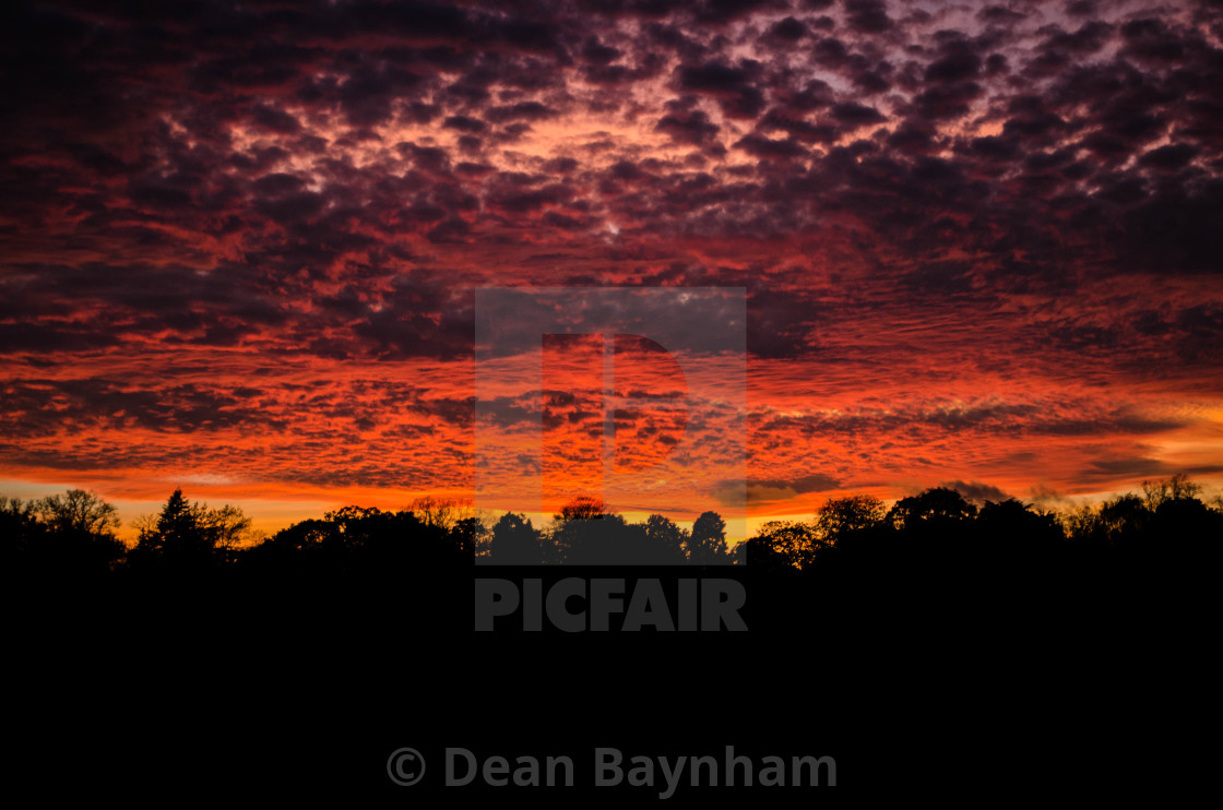 """Darlington Sunset"" stock image"