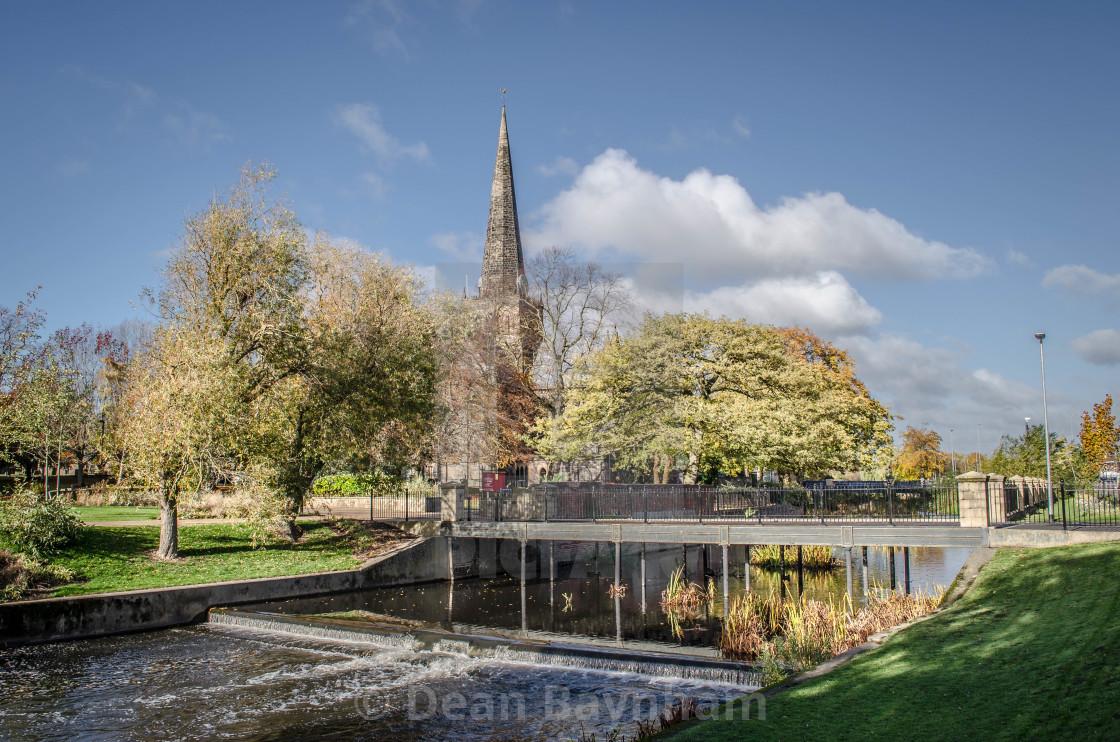 """St. Cuthbert's Church - Darlington"" stock image"