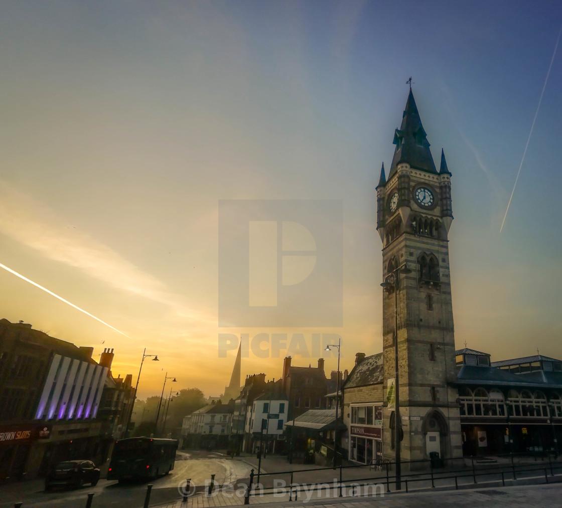 """Sunrise at Darlington"" stock image"