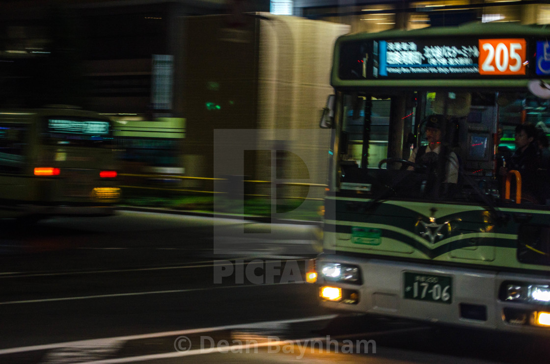"""Bus 205, Kyoto - Japan"" stock image"
