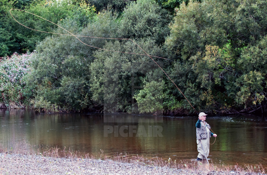 """The Fly Fishermon"" stock image"