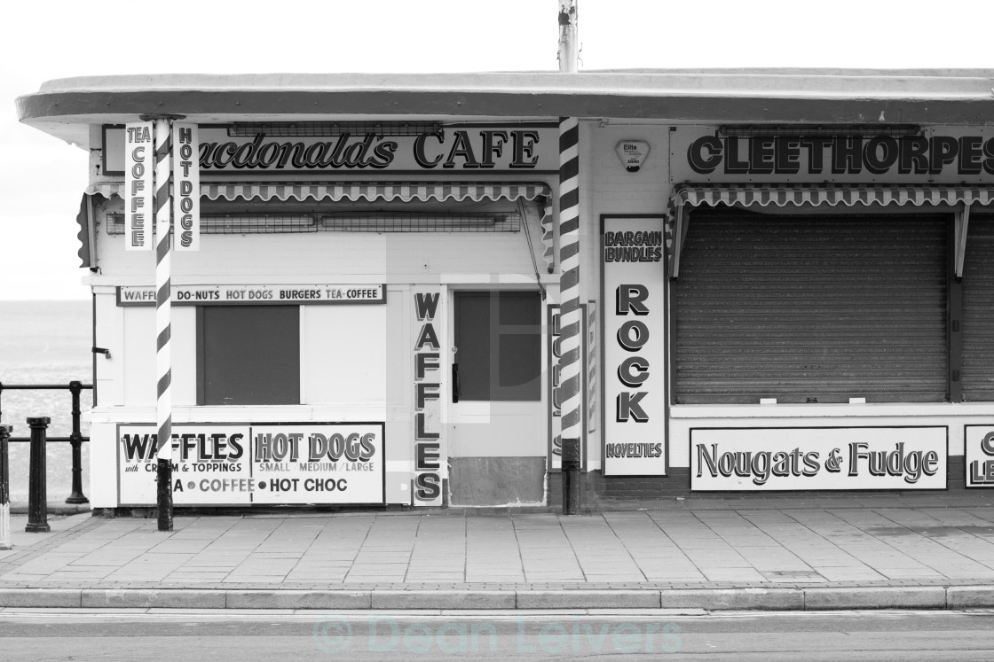"""Cleethorpes Cafe"" stock image"