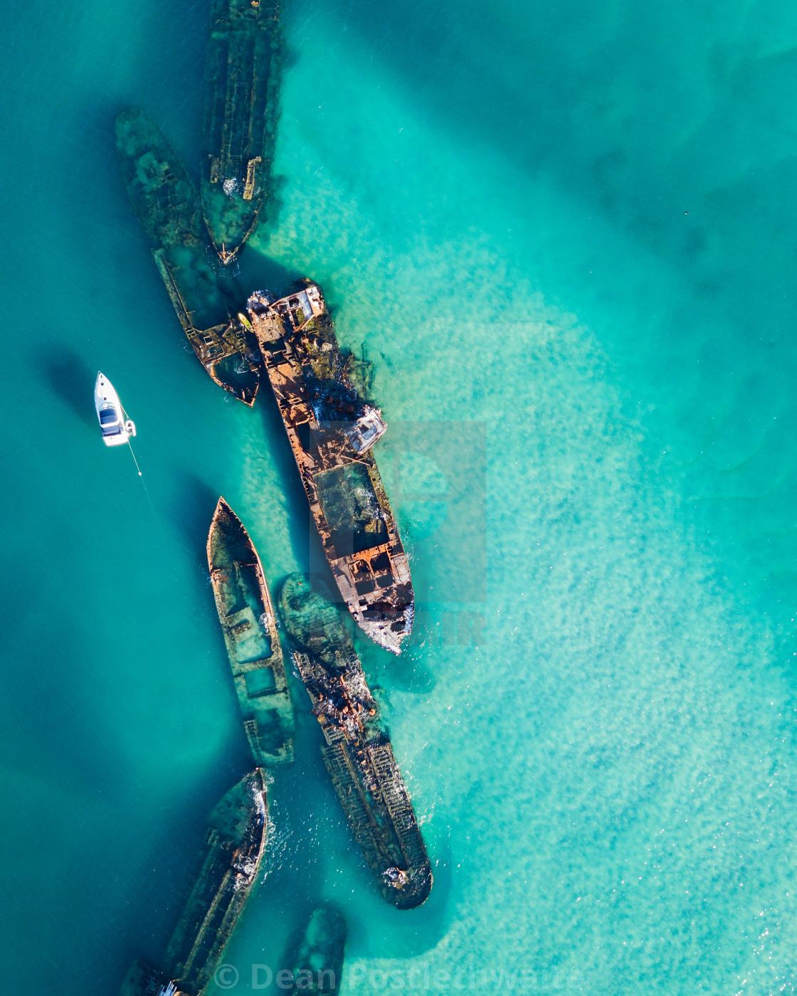 """Tangalooma Wrecks - QLD"" stock image"