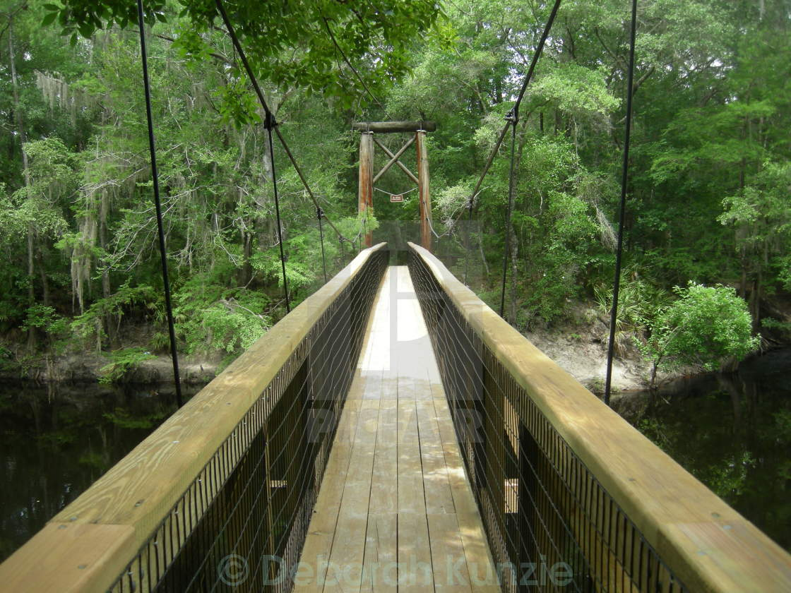 """Swinging Bridge"" stock image"