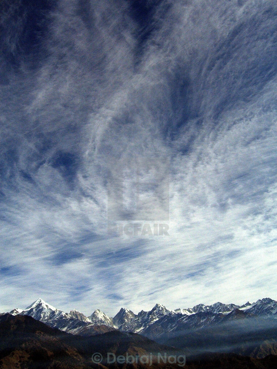 """Mountain and the Sky"" stock image"