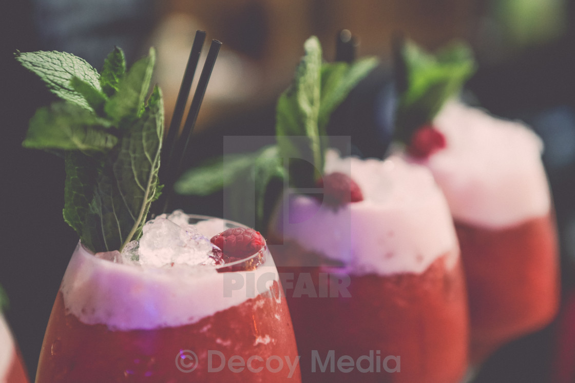 """Raspberry Cocktails (Close up)"" stock image"