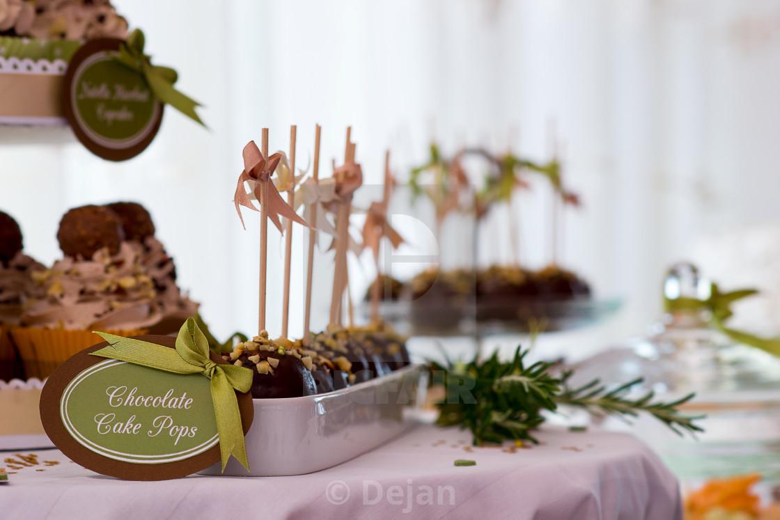 """Cookies, pastries, chocolate"" stock image"