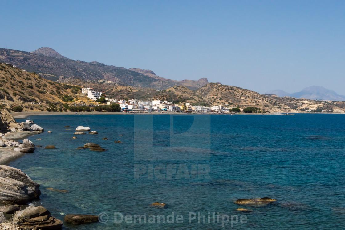 Crete Island Greece Beach Between Myrtos And Tertsa