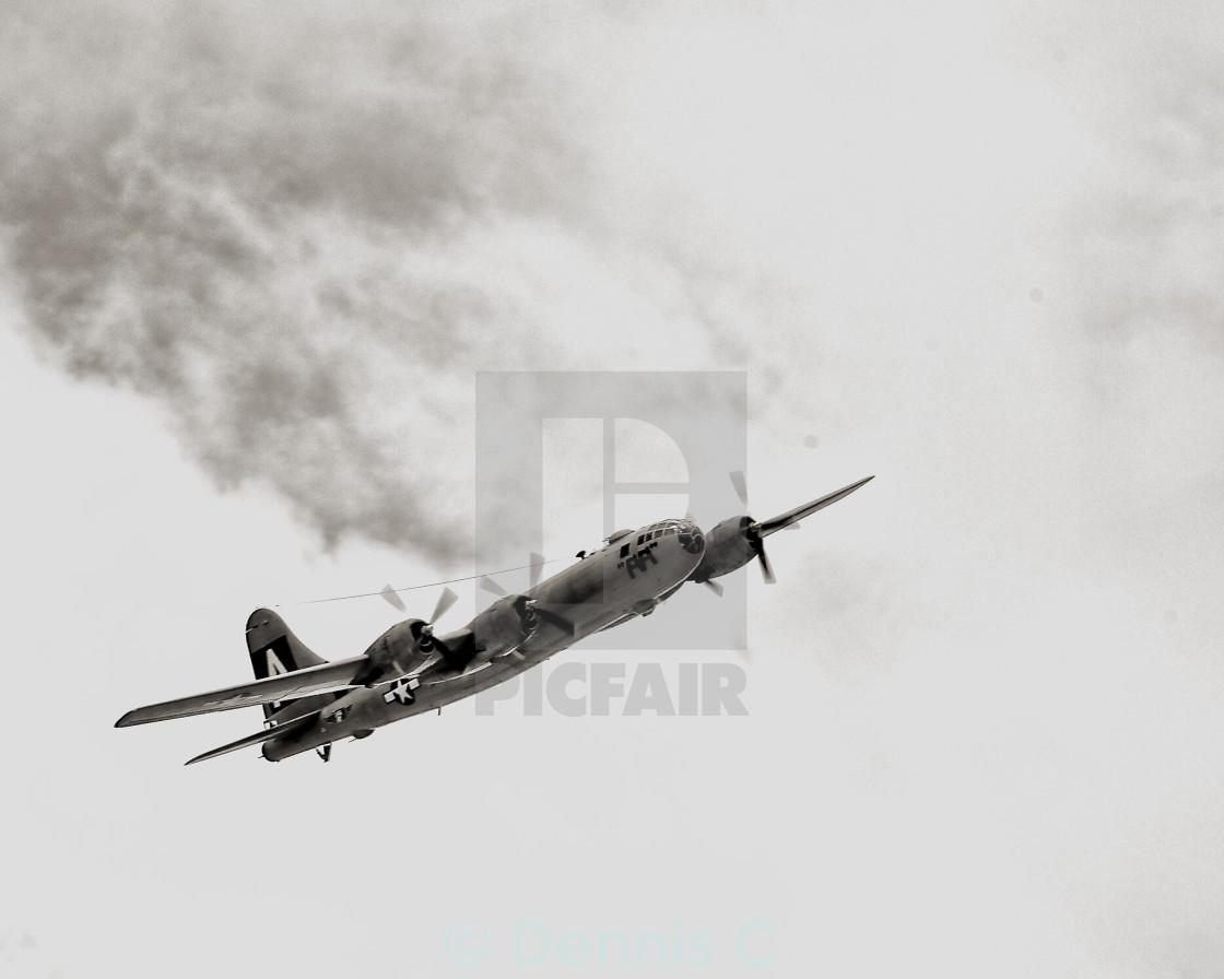 """B-29 Flyover"" stock image"