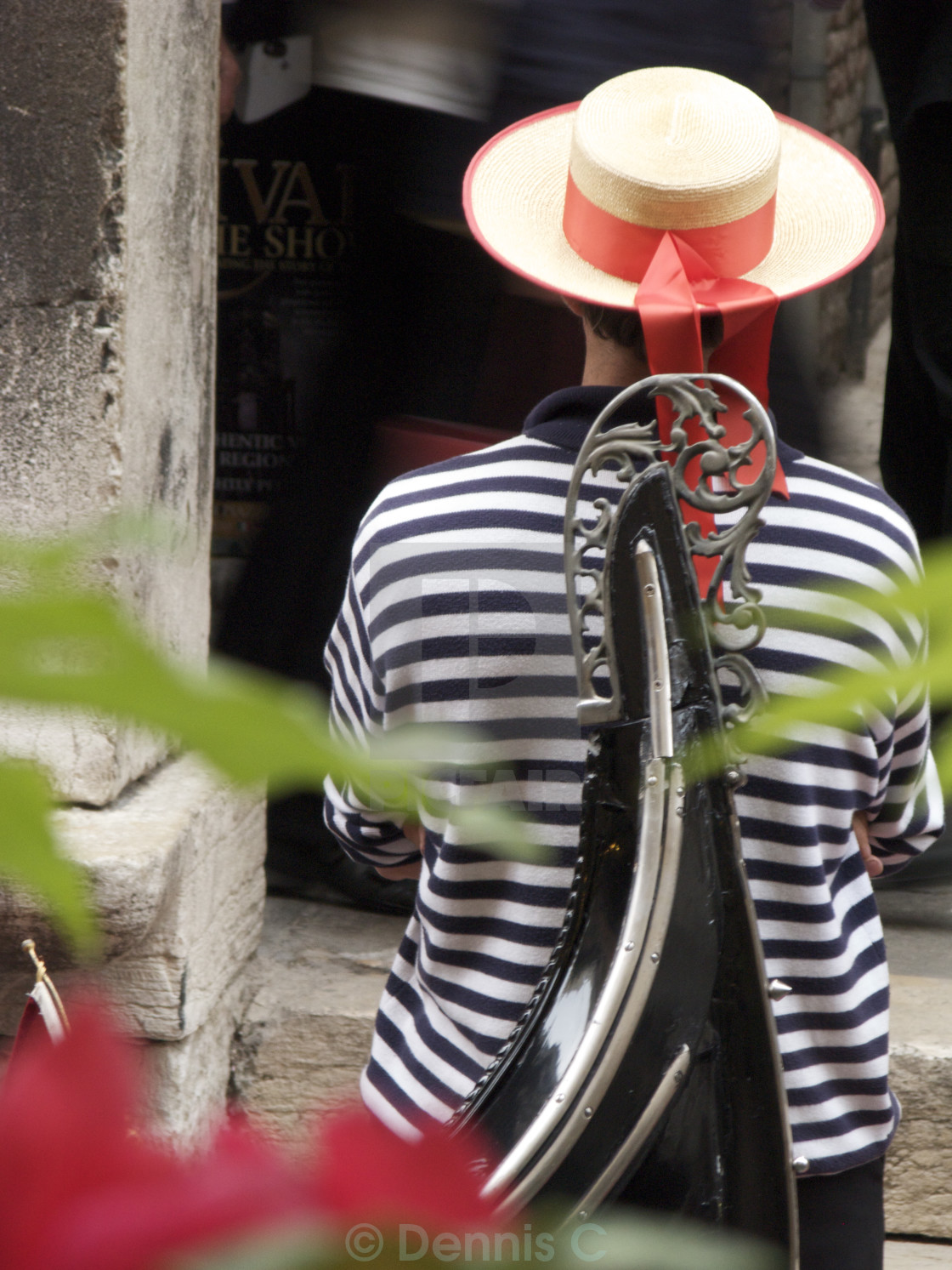 """Venetian Gondolier on Break"" stock image"