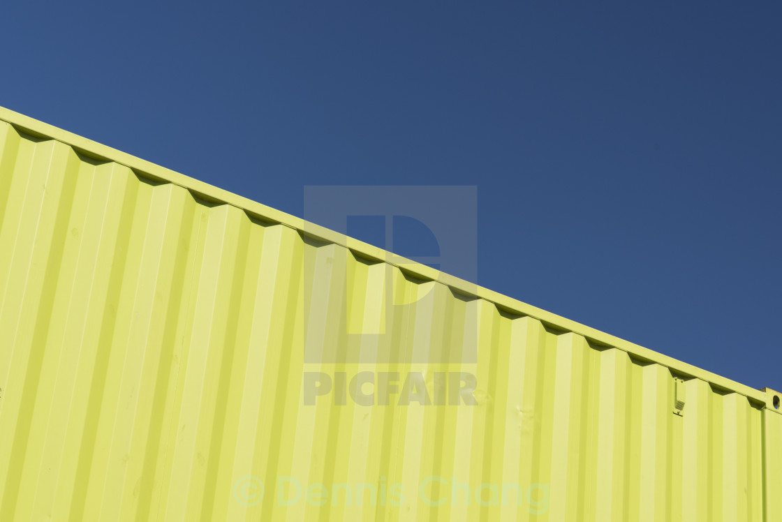 """Yellow steel container"" stock image"