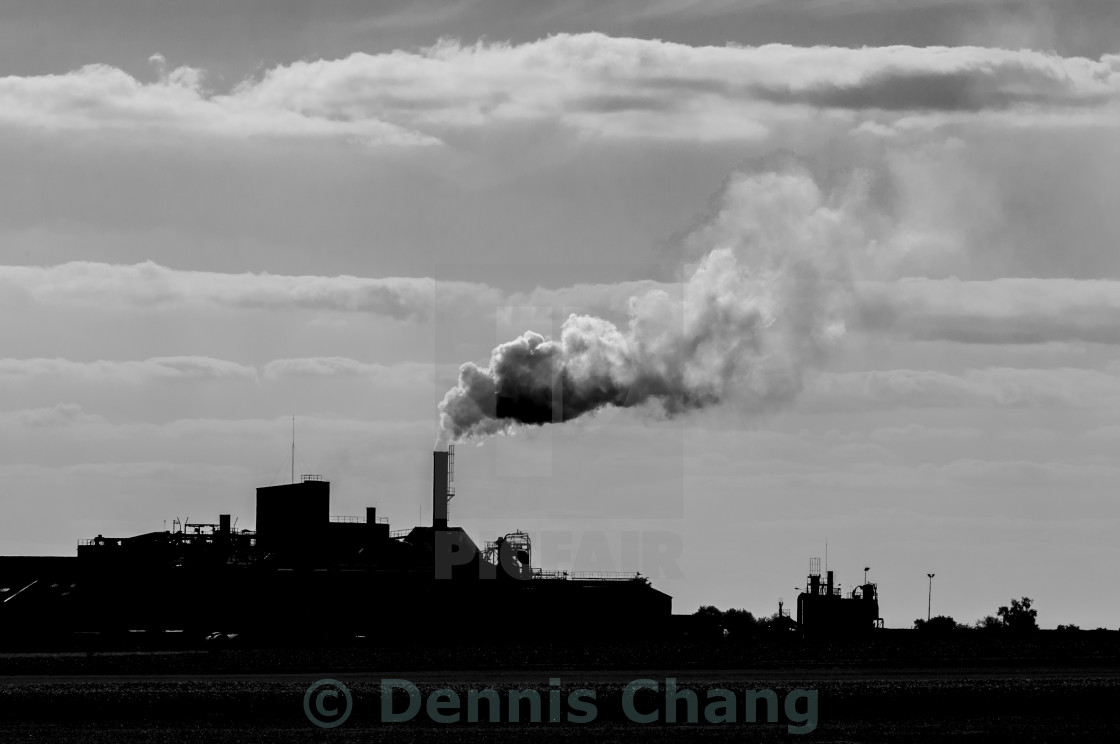 """Factory chimney smoke"" stock image"