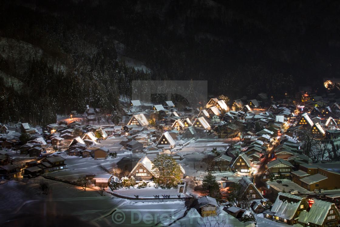 """Shirakawa Light Festival"" stock image"