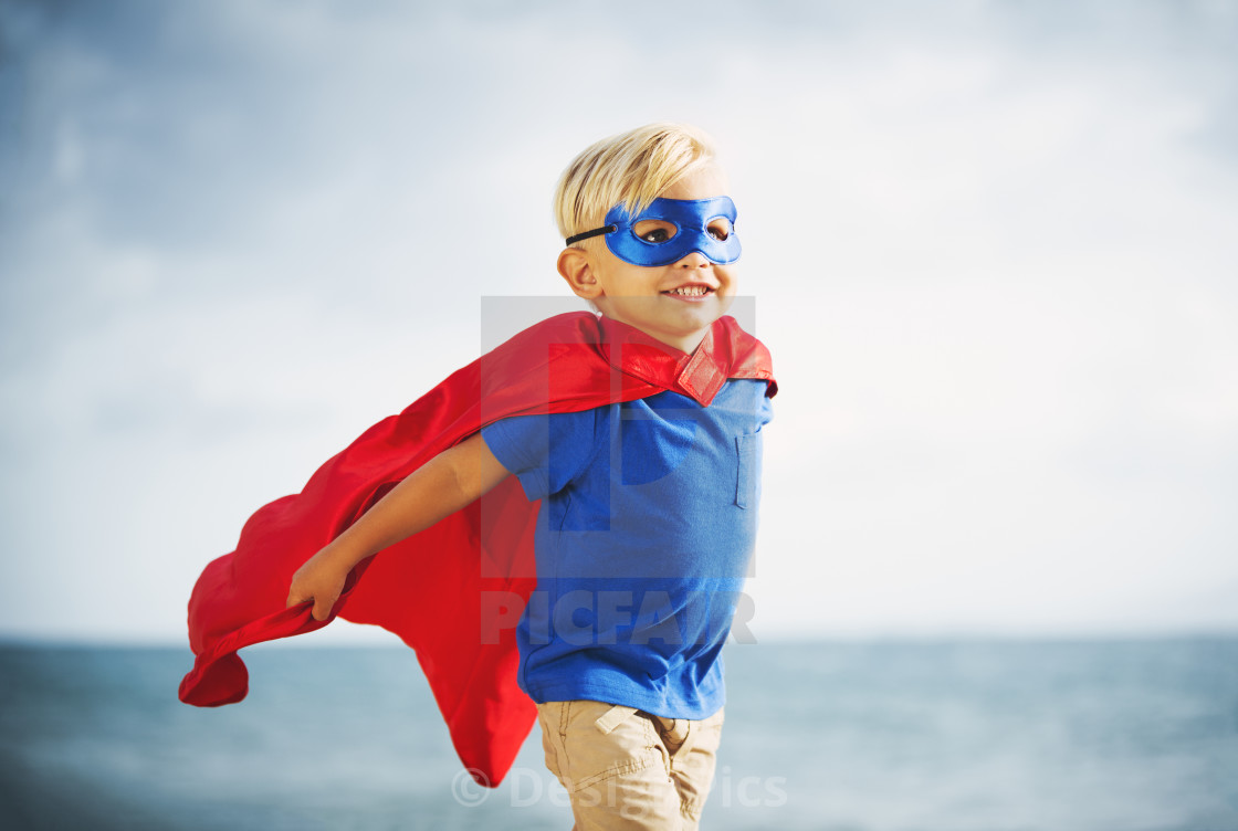 Superhero Kid - License, download or print for £30.32 | Photos ...