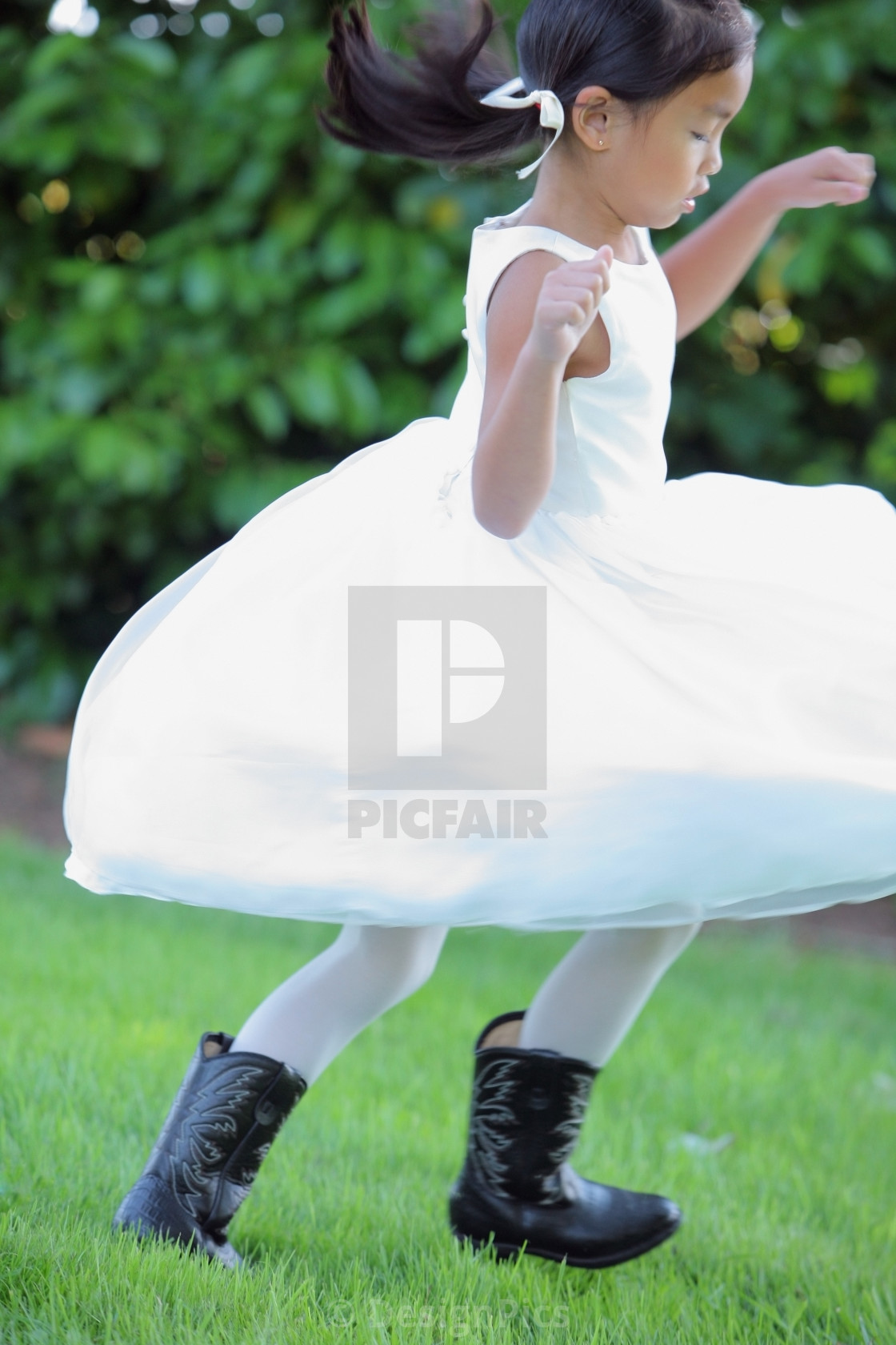 White Dress with Cowboy Boots