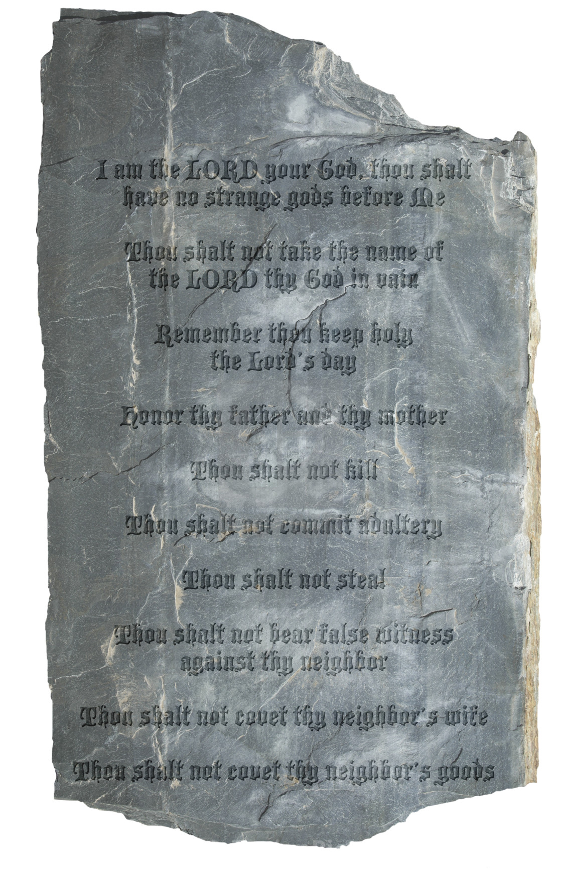 The Ten Commandments On A Stone Tablet License Download Or Print
