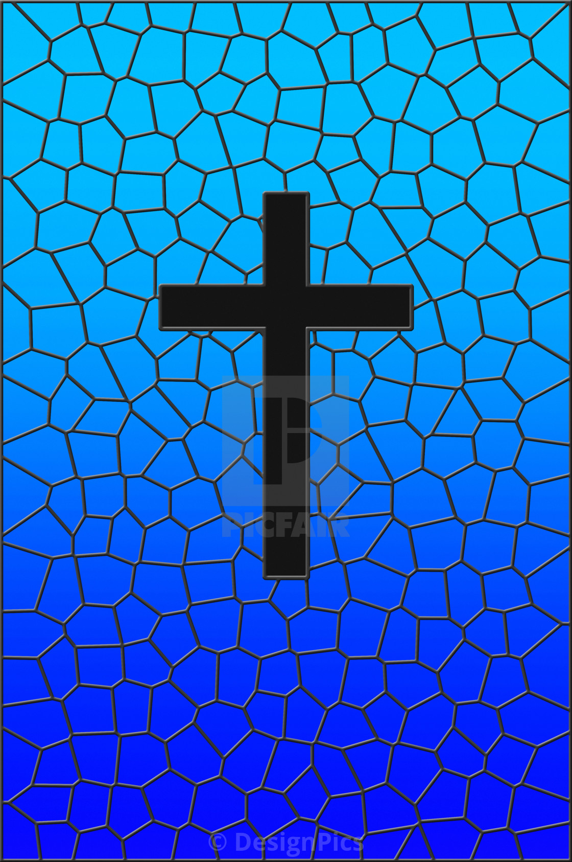 """""""Stained Glass Illustration"""" stock image"""