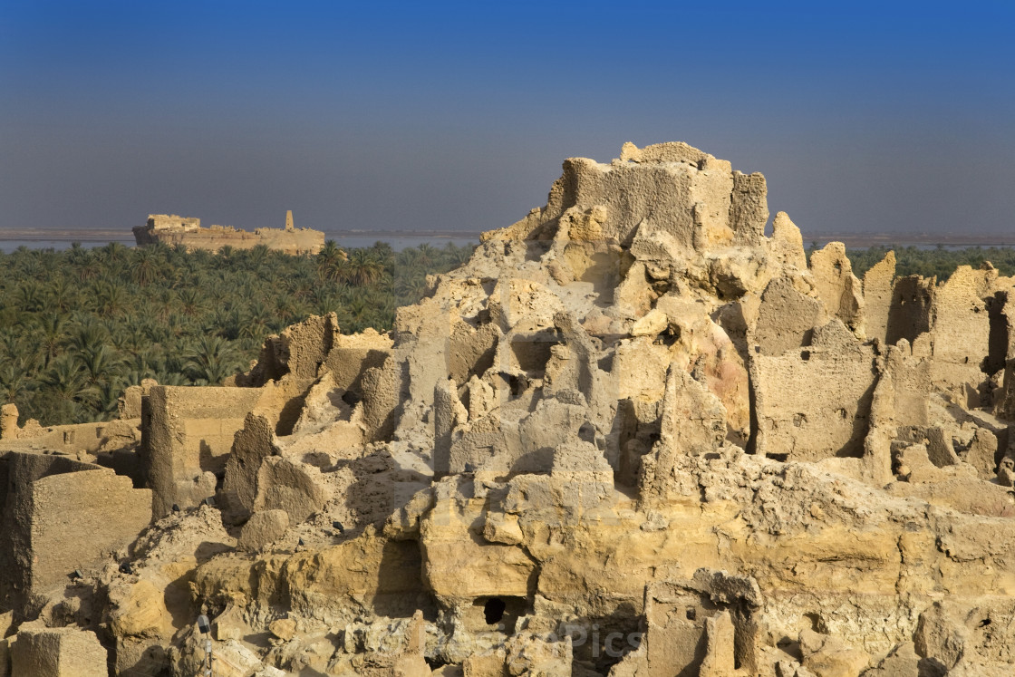 """""""The Temple Of The Oracle, Shali Fortress, Siwa Town, Egypt"""" stock image"""