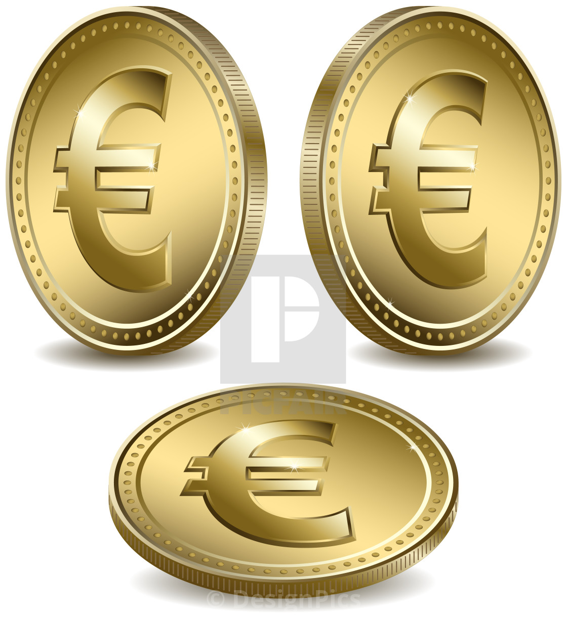Gold Coins With The Euro Symbol License For 3759 On Picfair