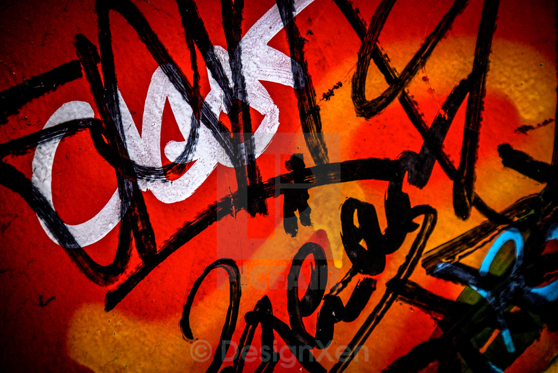 """Graffiti tags"" stock image"