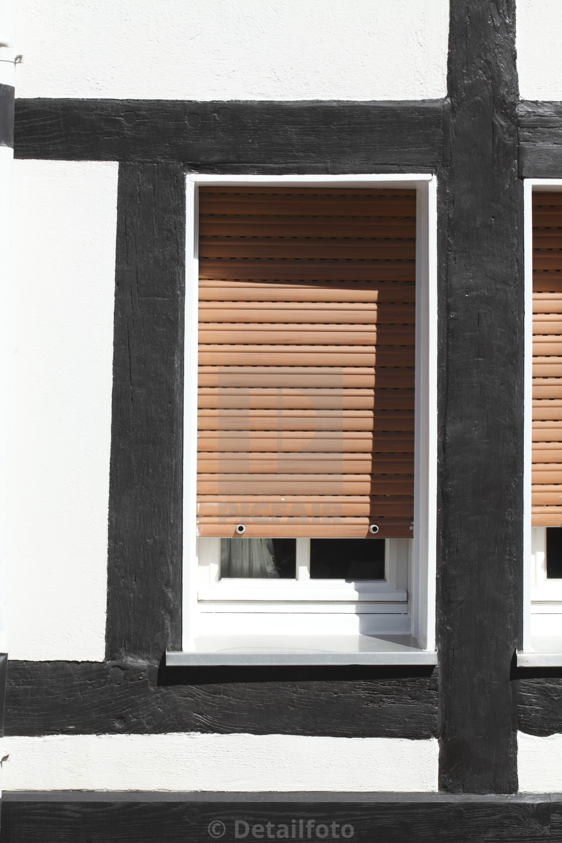 Window With Pulled Down Shutters License Download Or