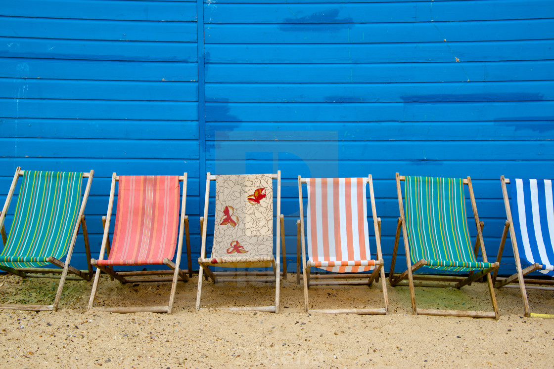 """Deckchairs in Great Yarmouth"" stock image"