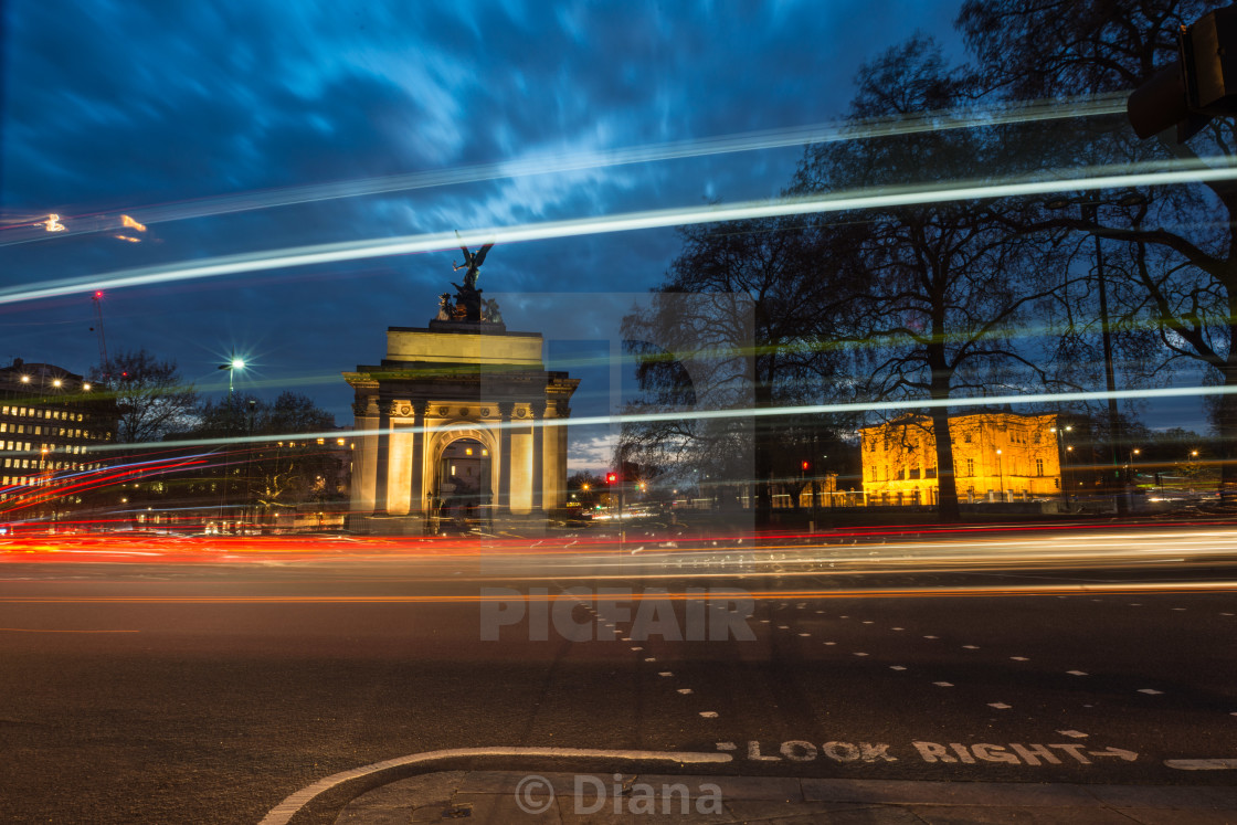 """The Wellington Arch, London"" stock image"