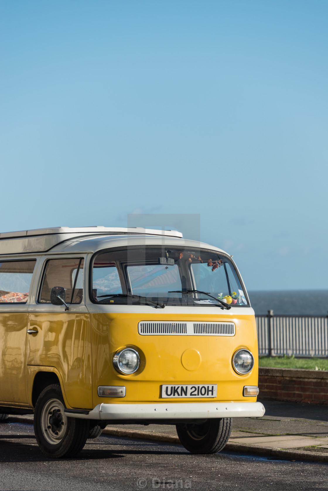 """Yellow campervan"" stock image"