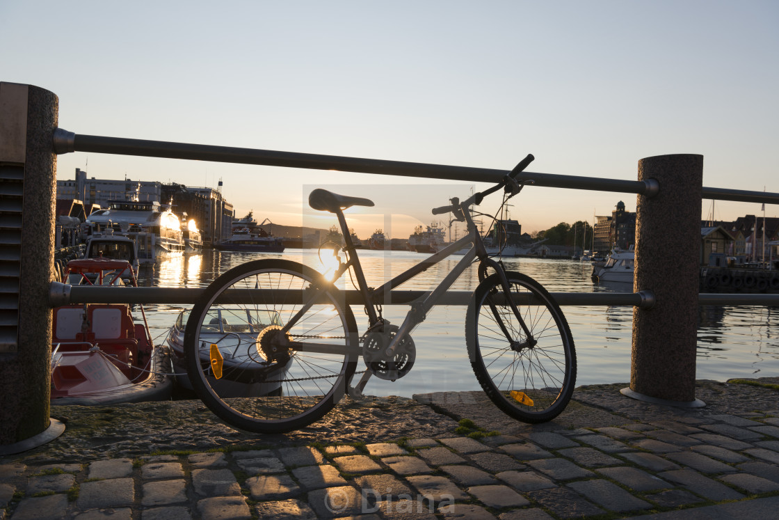 """A bike in Bergen"" stock image"
