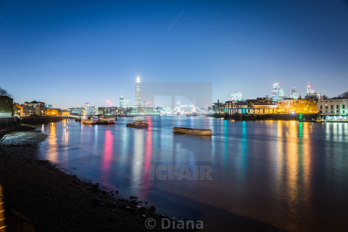 """""""The river Thames in London from Rotherhithe"""" stock image"""