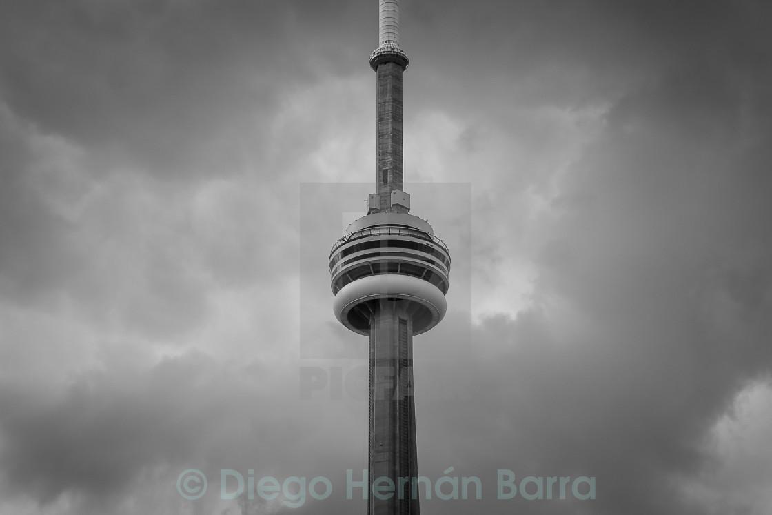 """Cloudy Toronto"" stock image"